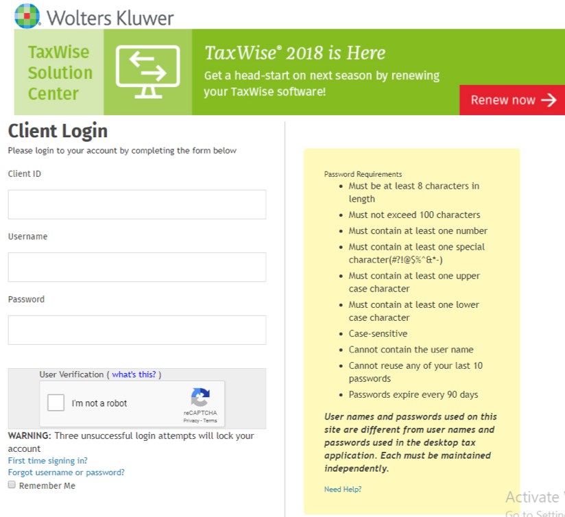 TPG Enrollment Instructions for TaxWise Customers