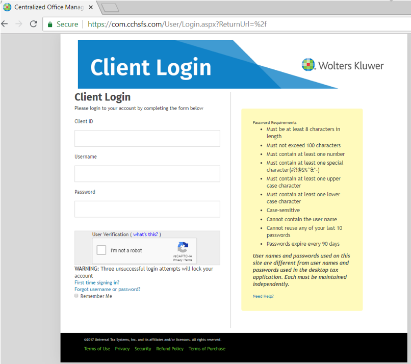 COM login