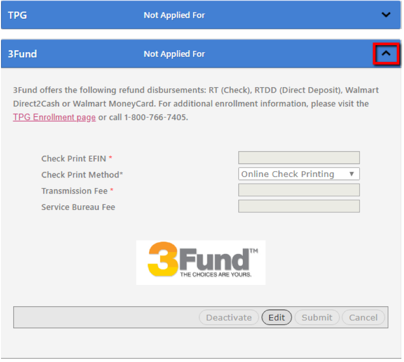 3fund info screen