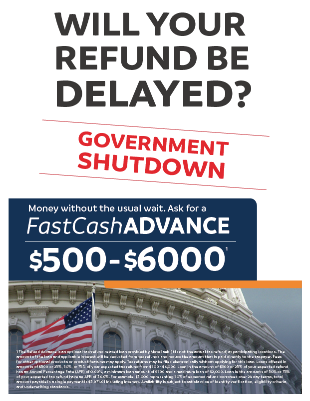 FCA government shutdown flyer
