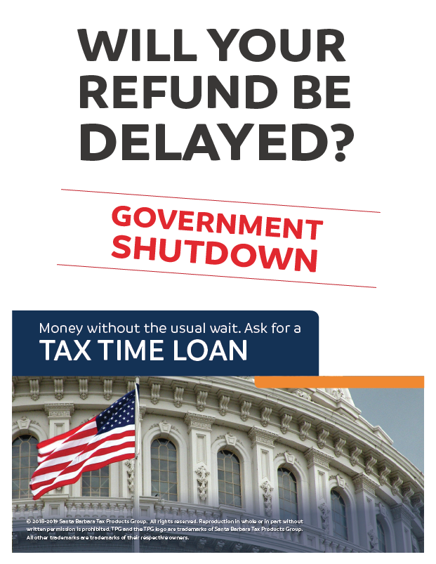 standard government shutdown flyer