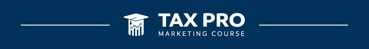 Tax Pro Marketing Course Header