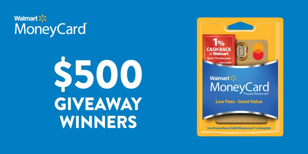 $500 Walmart MoneyCard winner announcement
