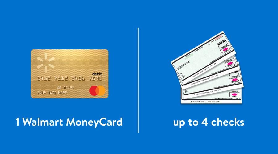Walmart MoneyCard vs. checks