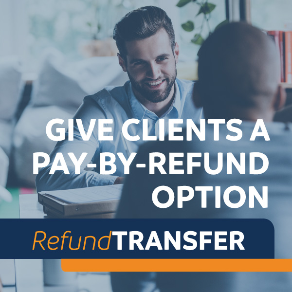 Collect payment with the Refund Transfer