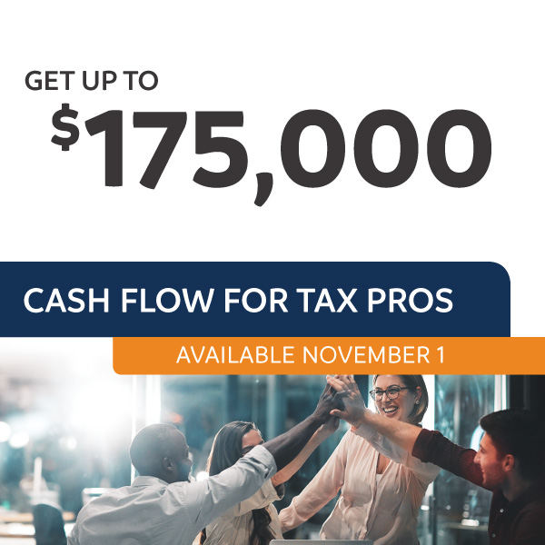 Fee Advance up to $175,000 available