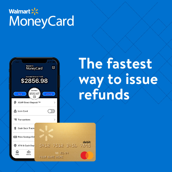 Walmart MoneyCard - the fastest