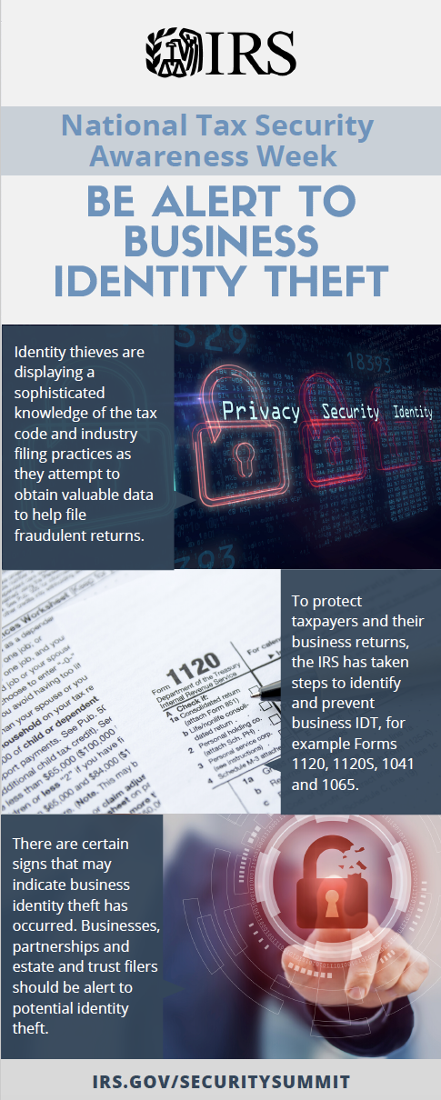Be alert to business identity theft