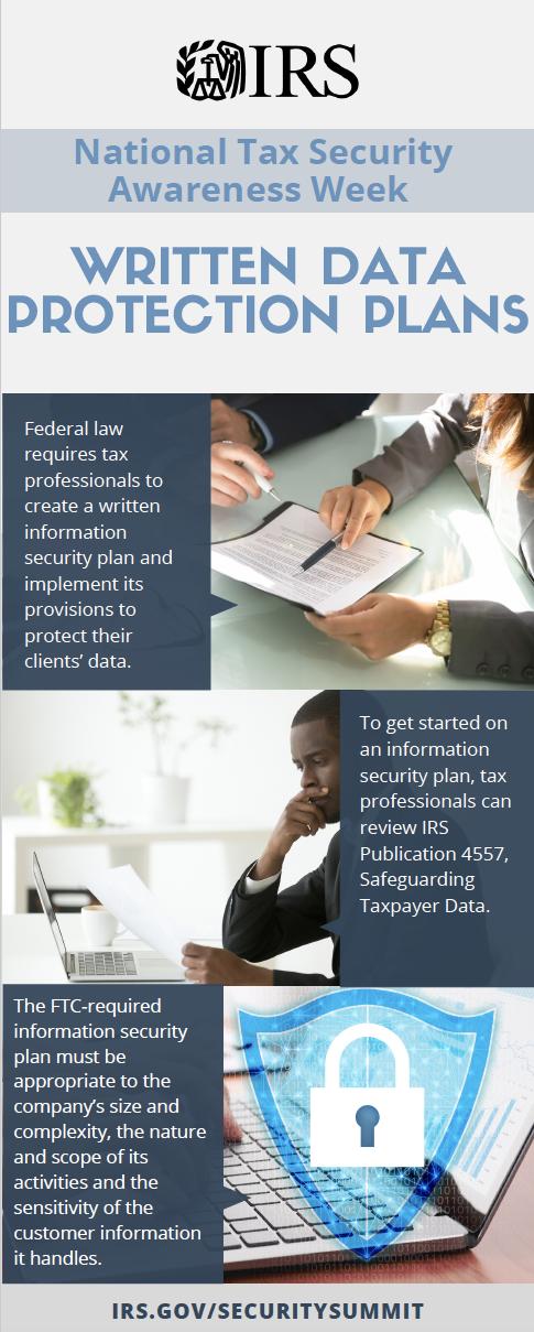Written data protection plans