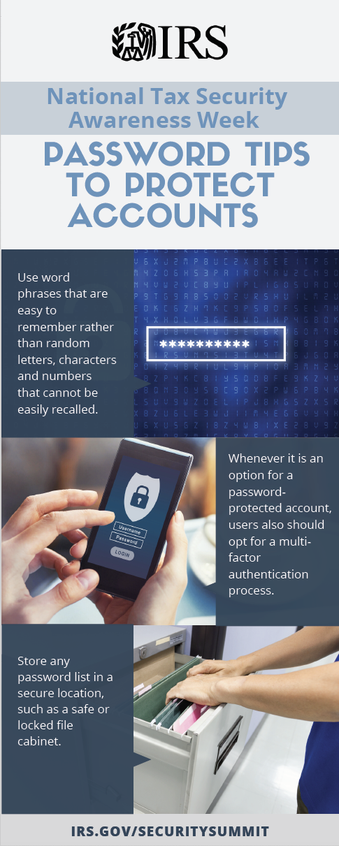 Password tips to protect accounts