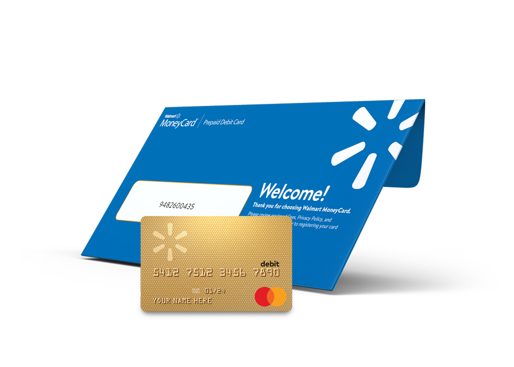 Walmart MoneyCard packaging