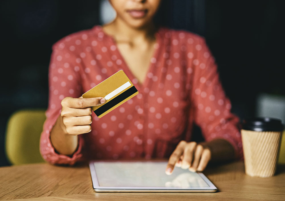 Tax professional accepting credit card