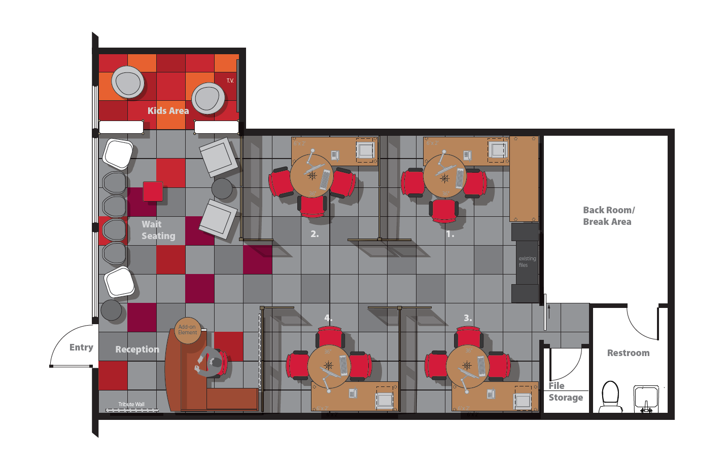 Office Makeover Floorplan