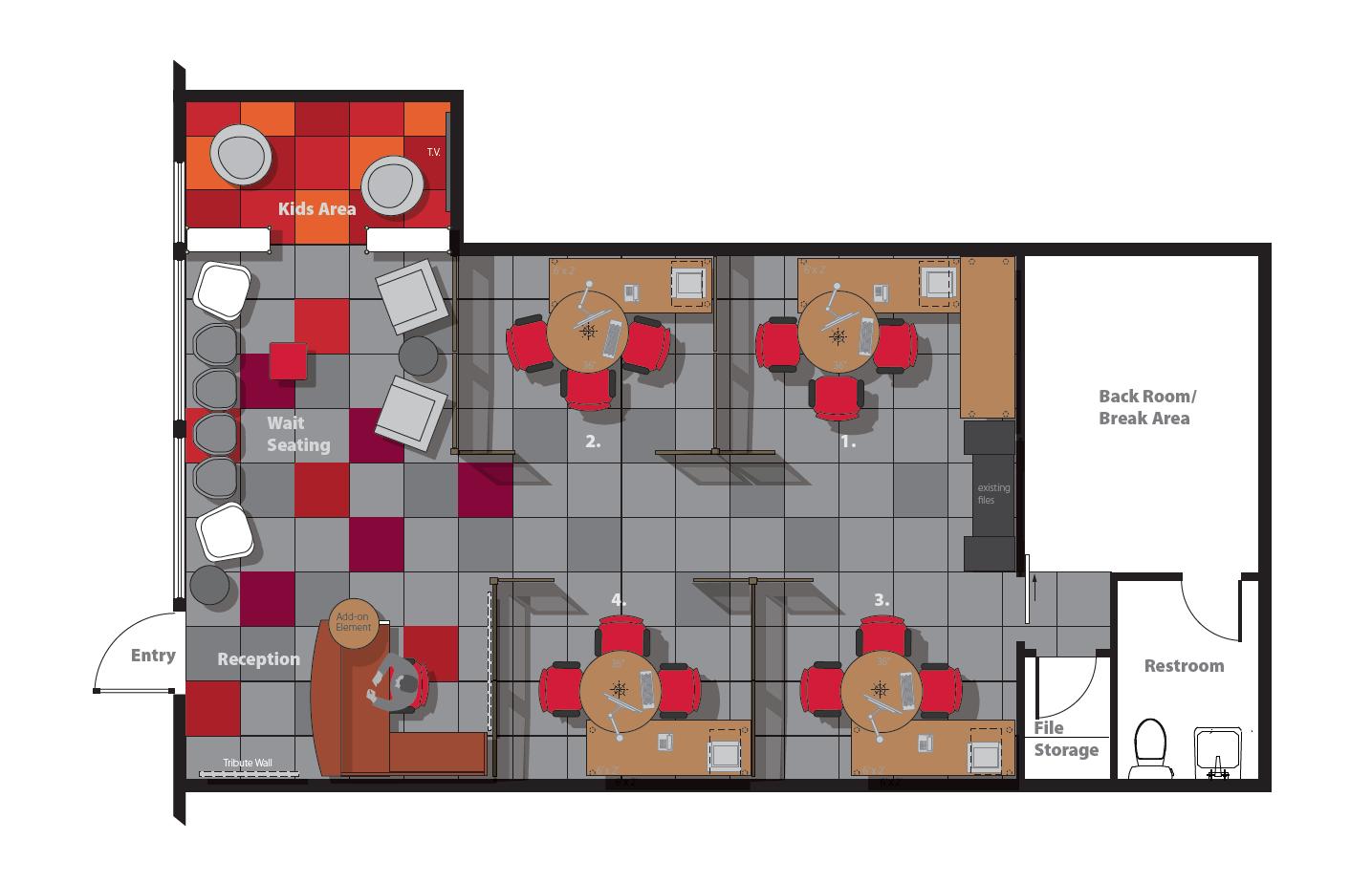 Office Makeover Floorplan