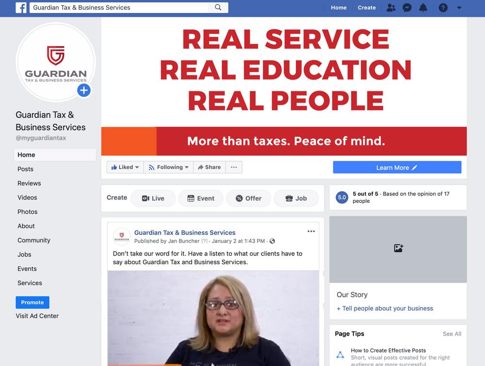 Guardian Facebook page