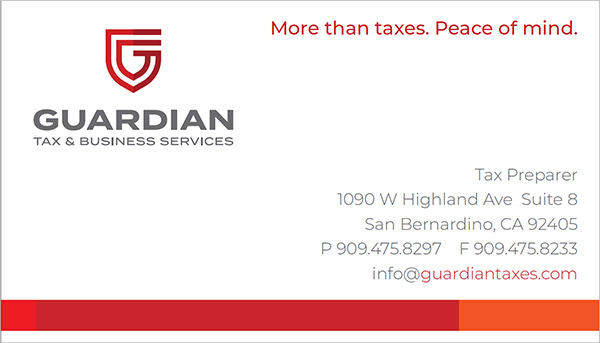 Guardian Tax businesscard
