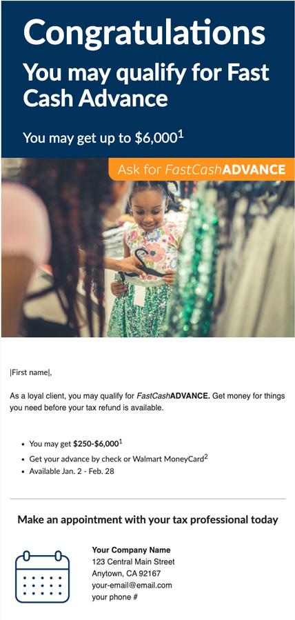 FCA Promo email #1