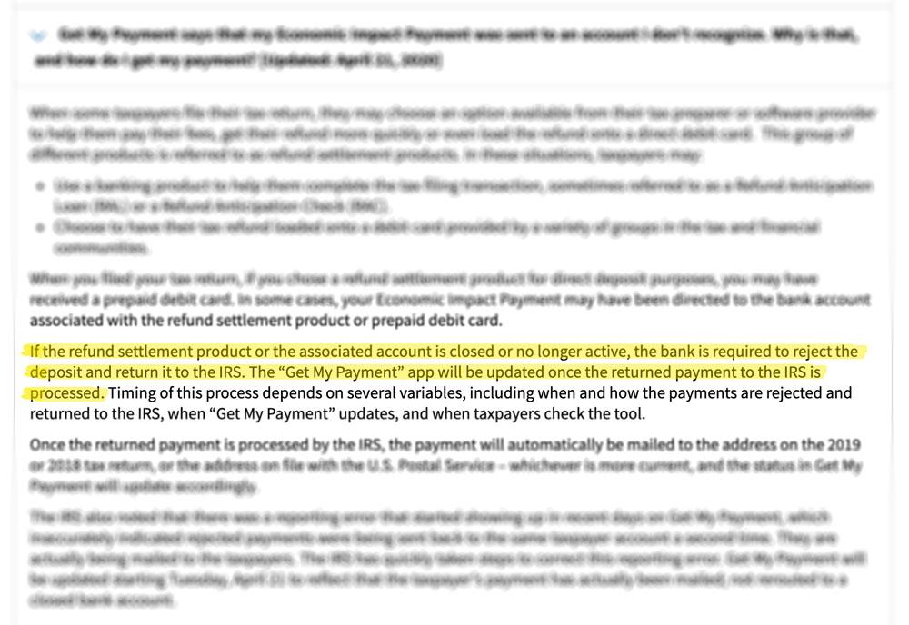IRS FAQ