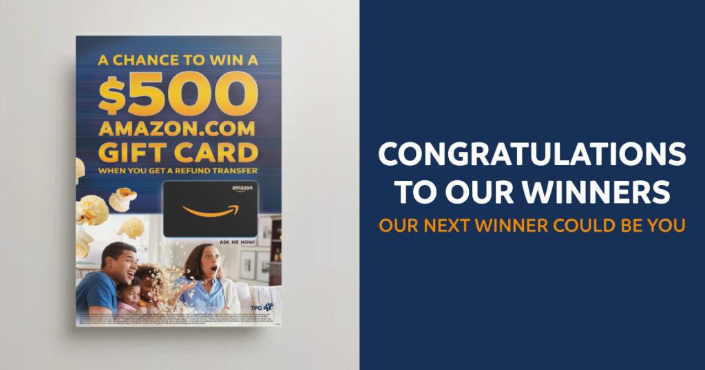 Amazon Gift Card Winners