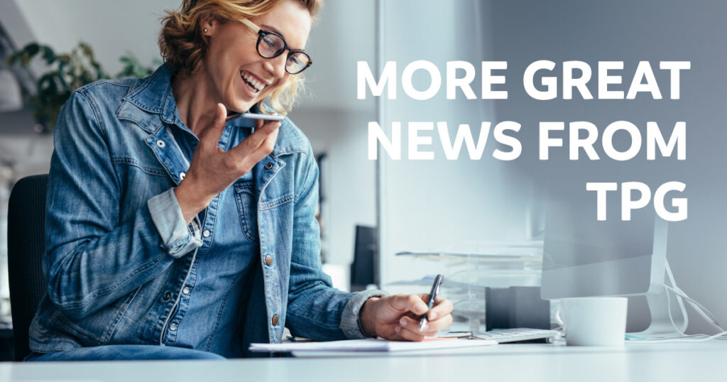 More great news from TPG