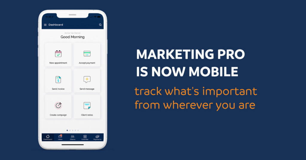 Marketing Pro is now mobile